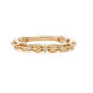 アガット(agete)の最終価格★アガット ドレス フリル k10 廃盤 ダイヤモンド ピンキー(リング(指輪))