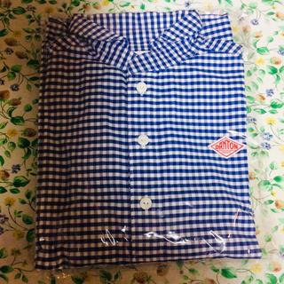 ダントン(DANTON)のダントン プルオーバーシャツ ブルーギンガムチェック 長袖 36(シャツ/ブラウス(長袖/七分))