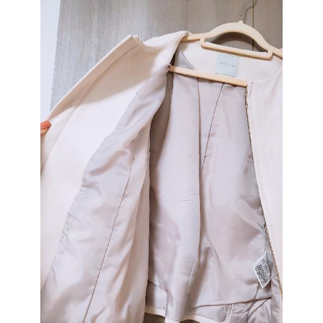 OPAQUE.CLIP(オペークドットクリップ)のオペークドットクリップ【新品】ライダースジャケット ダスティーピンク ジャケット レディースのジャケット/アウター(ノーカラージャケット)の商品写真