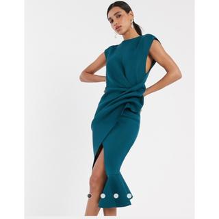 asos - ホステスキャバ嬢asos 膝丈ドレス新品