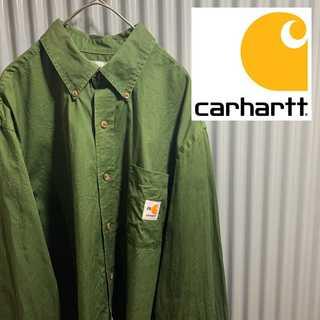 carhartt - 古着 旧ロゴ Carhartt オーバーシルエット シャツ アースカラー