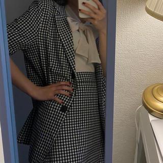 gingham jacket(テーラードジャケット)