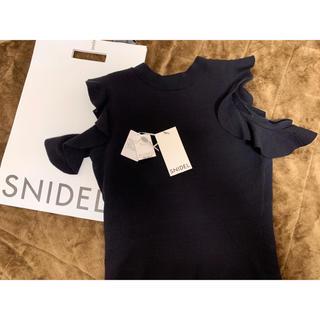 snidel - 今季 2020AW SNIDEL フリルニットプルオーバー BLK