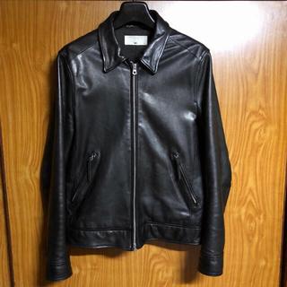 ハレ(HARE)の美品HARE ラムレザーライダースジャケット ブラック サイズS(ライダースジャケット)