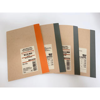MUJI (無印良品) - 無印良品 ノート A6 4冊セット【送料無料】