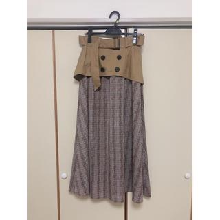 フロムファーストミュゼ(FROMFIRST Musee)の【フロムファーストミュゼ】ほぼ新品!チェック  ロングスカート(ロングスカート)