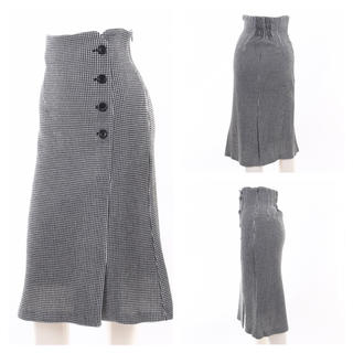 snidel - 美品◆元値¥9500 ハイウエスト ラップ釦スカート チェック柄