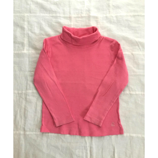 プチバトー(PETIT BATEAU)のプチバトー タートルネック 3ans 90〜95 ピンク(Tシャツ/カットソー)