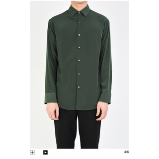 ラッドミュージシャン(LAD MUSICIAN)のladmusician  サイズ44   dark green shirt(Tシャツ/カットソー(七分/長袖))