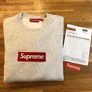 Supreme - Supreme Box Logo Crewneck Grey Mサイズ 18AW