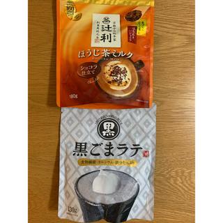 カルディ(KALDI)のほうじ茶ミルク ショコラ仕立て 黒ごまラテ 1杯で5500粒の黒ごま(茶)