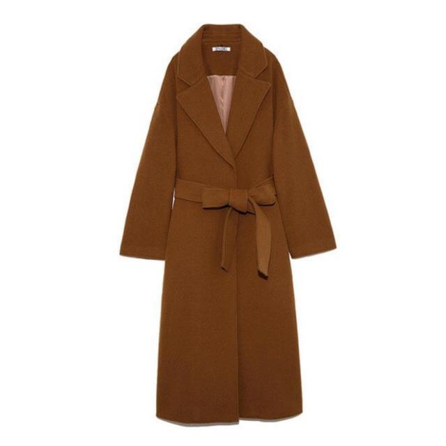 snidel(スナイデル)のSNIDEL ウエストマークウールコート レディースのジャケット/アウター(ロングコート)の商品写真