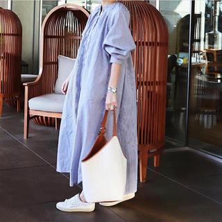 DEUXIEME CLASSE - 【マチャット】ギャザーロングシャツドレス ワンピース ストライプ