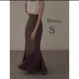 TODAYFUL - louren mermaid pleats skirt  brown S