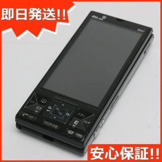 ソニー(SONY)の良品中古 au S001 ブラック 白ロム(携帯電話本体)