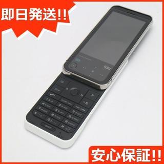 ソニー(SONY)の美品 au iida G11 ホワイト 白ロム(携帯電話本体)