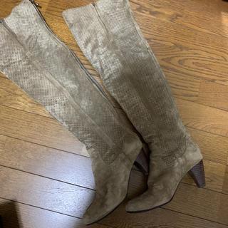 ルシェルブルー(LE CIEL BLEU)のスウェード ニーハイブーツ ロングブーツ(ブーツ)