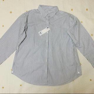 ジーユー(GU)の2way ストライプ オーバーサイズシャツ (シャツ/ブラウス(長袖/七分))
