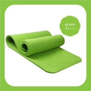 《グリーン》 トレーニング 厚手 厚さ おしゃれ バッグ ゴムバンド付き(ヨガ)