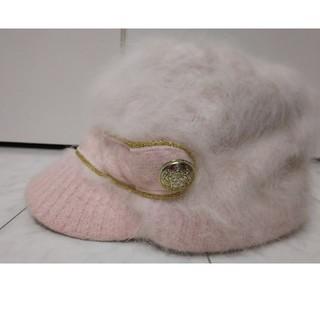 リズリサ(LIZ LISA)のLIZ LISA リズリサ キャスケットみたいな形のアンゴラの帽子(ハット)