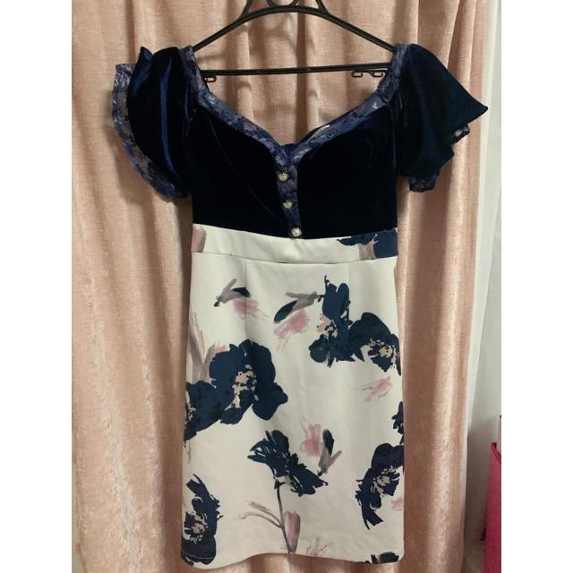 JEWELS(ジュエルズ)のJewels/花柄オフショルタイトドレス レディースのフォーマル/ドレス(ミニドレス)の商品写真