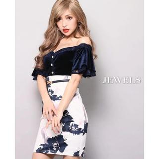 JEWELS - Jewels/花柄オフショルタイトドレス
