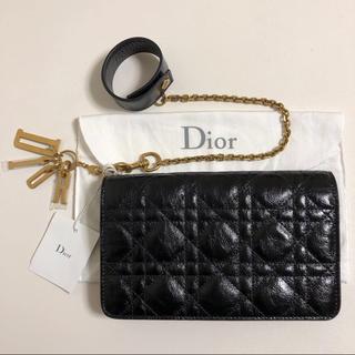 クリスチャンディオール(Christian Dior)のDior ディオール クラッチバッグ カナージュ 財布 バングルチェーン付き(財布)