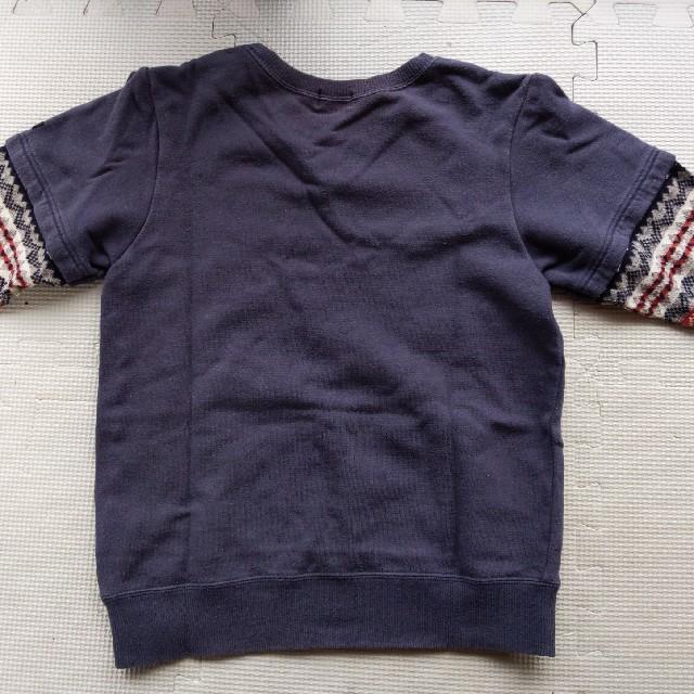 DOUBLE.B(ダブルビー)のダブルB 重ね着風トレーナー130 キッズ/ベビー/マタニティのキッズ服男の子用(90cm~)(Tシャツ/カットソー)の商品写真