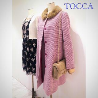 トッカ(TOCCA)の【美品】tocca ツイードコート(ロングコート)