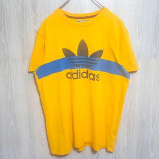 adidas - アディダス トレフォイルロゴプリントTシャツ イエロー