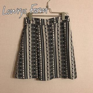 ローリーズファーム(LOWRYS FARM)のLowrys Farm 柄スカート(ひざ丈スカート)