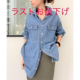 L'Appartement DEUXIEME CLASSE - アパルトモン REMI RELIEF シャンブレーシャツ ブルー used