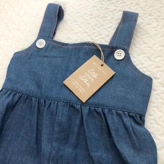キャラメルベビー&チャイルド(Caramel baby&child )の新品未使用 little cotton clothes サロペット  4-5y(パンツ/スパッツ)