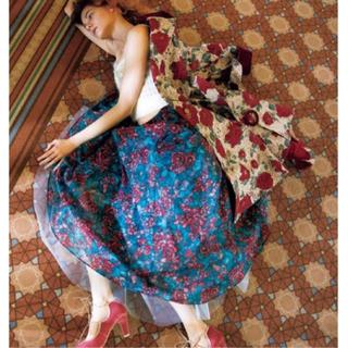 Lily Brown - リリーブラウンステンドグラス柄ロングスカート☆新品紙タグ付き