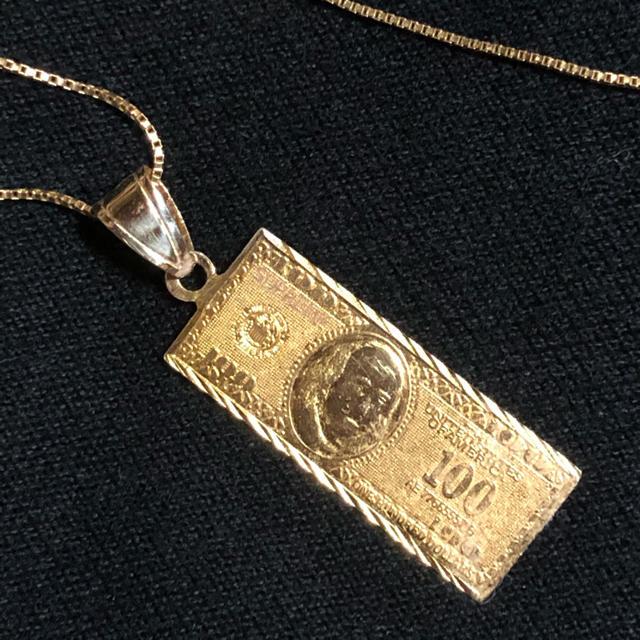 Supreme(シュプリーム)のSupreme 100 Dollar Bill 14K Gold Pendant メンズのアクセサリー(ネックレス)の商品写真