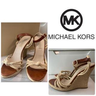 Michael Kors - マイケルコース ブラウンレザー サンダル