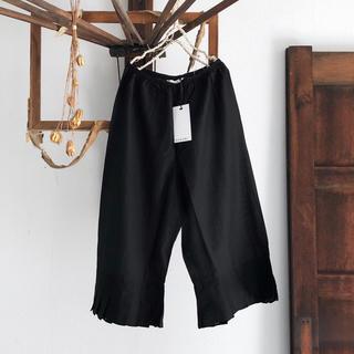 スズキタカユキ(suzuki takayuki)の未使用展示品 susuri ススリ 20-505 フルッターパンツ black(カジュアルパンツ)