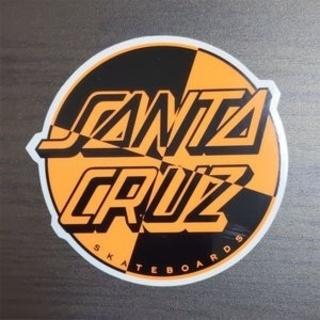 (縦10cm横10.5cm)SANTACRUZ ステッカー(スケートボード)