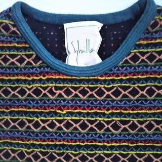 シビラ(Sybilla)の新品同様  Sybilla 刺繍半袖セーター(ニット/セーター)