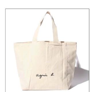 agnes b. - agnes b. アニエスベー ブランド 正規 トートバッグ アイボリー 白 L