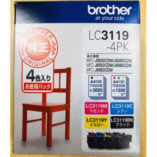 ブラザー(brother)の新品未開封 純正インク ブラザー LC3119-4PK(PC周辺機器)
