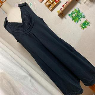 ケンゾー(KENZO)の美品 KENZO ジャンパースカート(ひざ丈スカート)