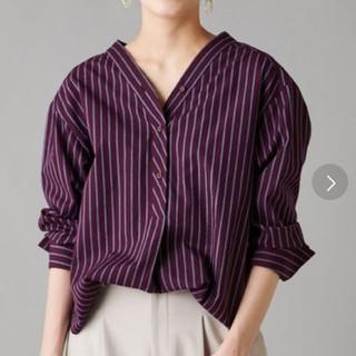 URBAN RESEARCH - 週末セール un dix cors  ストライプシャツ スキッパーシャツ