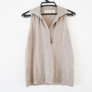 マルニ(Marni)のマルニ ノースリーブセーター サイズ42 M -(ニット/セーター)
