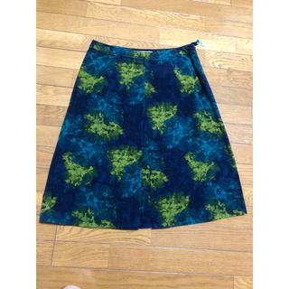 ローラアシュレイ(LAURA ASHLEY)のローラアシュレイ 綿ビロードスカート(ひざ丈スカート)