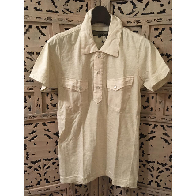 AYUITE(アユイテ)の新品 AYUITE アユイテ リネン刺繍 ジャージポロシャツ ベージュ 1 メンズのトップス(ポロシャツ)の商品写真