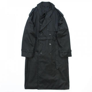 SUNSEA - stein DOUBLE SHADE TRENCH COAT・BLACK