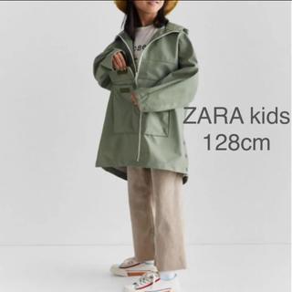 ザラキッズ(ZARA KIDS)の【新品・未使用】ZARA kids ワックスコーティング加工 コート 128cm(コート)
