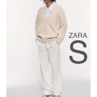 ザラ(ZARA)の【新品・未使用】ZARA 裏あみ ニット セーター  S(ニット/セーター)