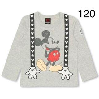 ベビードール(BABYDOLL)の新品BABYDOLL☆120 ミッキー ロンT サスペンダー ベビードール(Tシャツ/カットソー)